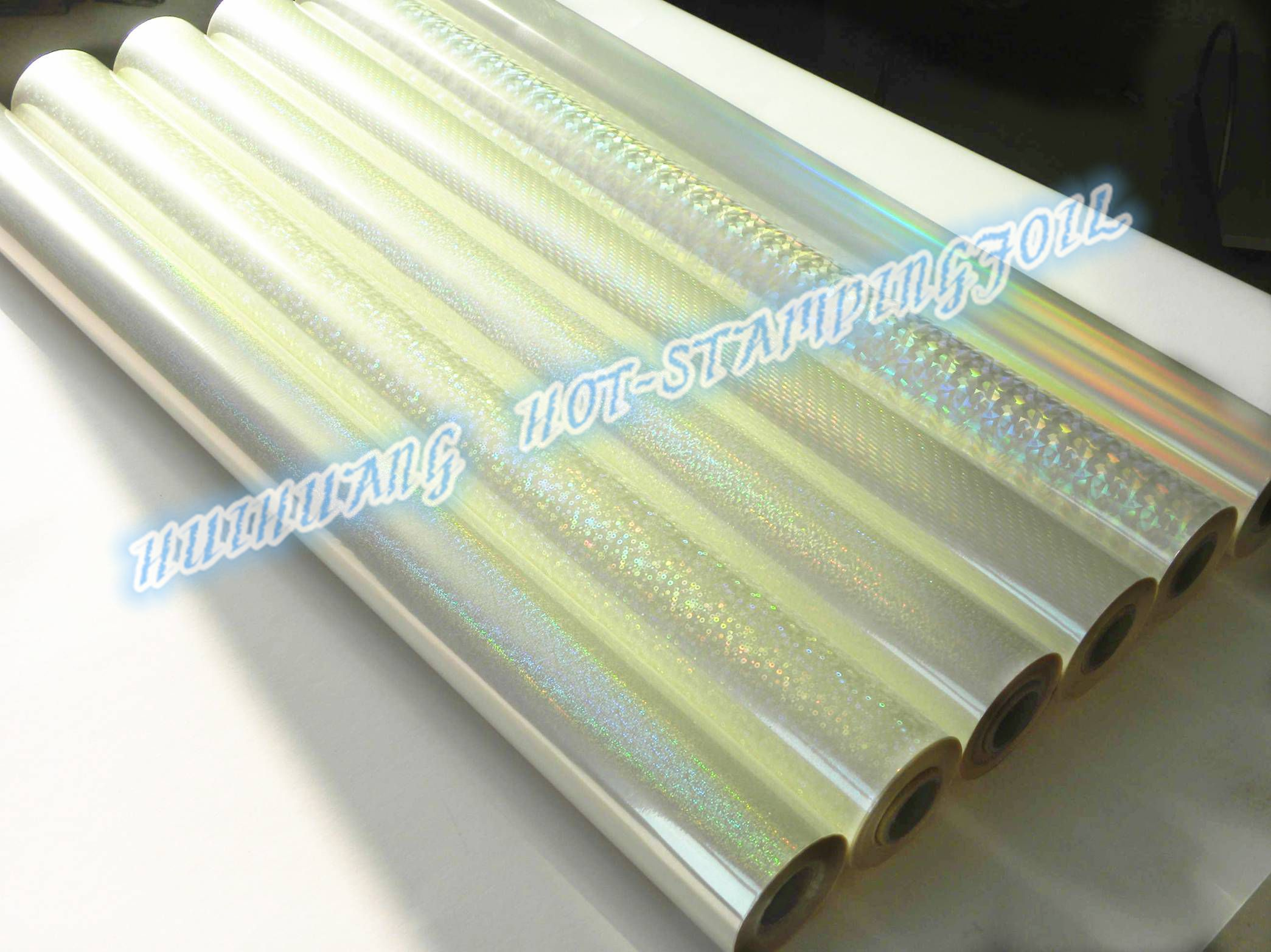 holographic transparent hot stamping foil
